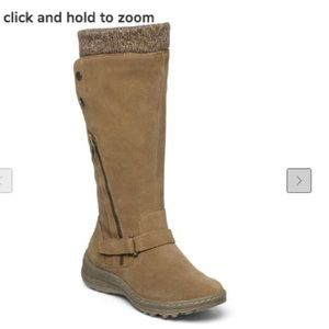 Bare Traps Adele 8.5 Cognac side-zippered boot